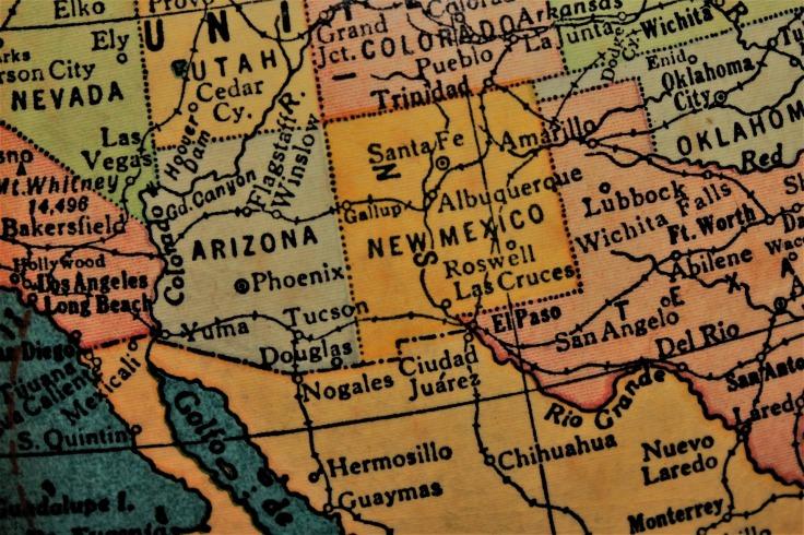 SW USA MAP